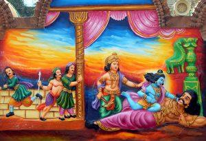 Krishna Kills Kamsa