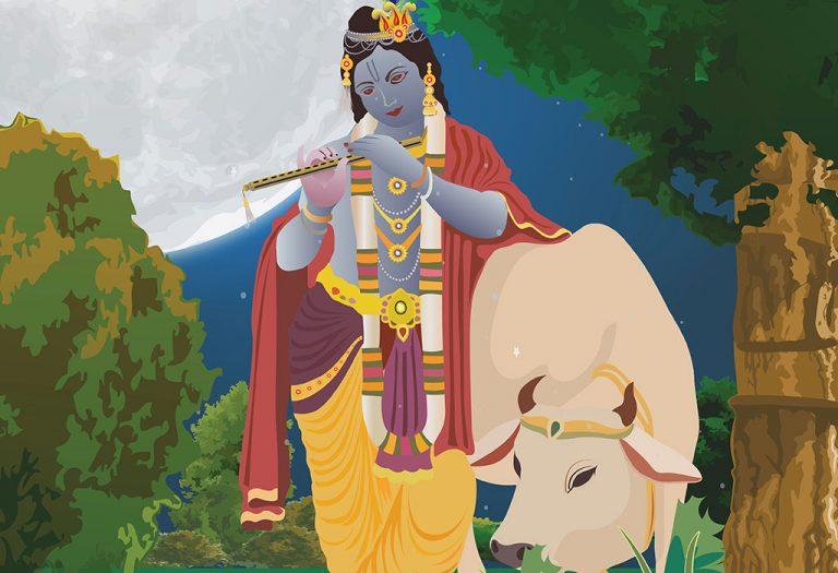 कृष्ण और कामधेनु