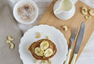 cashew nuts with pancake