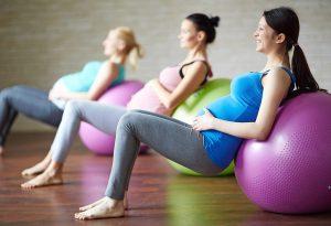 Pregnancy Workout:  Use Exercise Balls