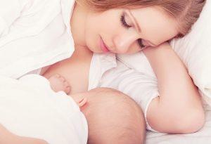 Breastfeeding in lie-down position