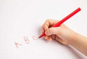 Child with bad handwriting