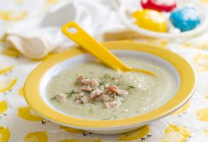 Chicken puree with vegetable