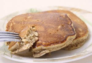 Wheat almond pancakes