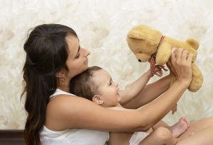 Giving comfort items to calm babies