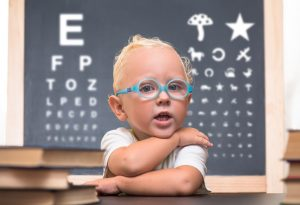 Corrective eyeglasses for squint in babies