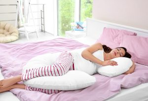 total body C-shaped pillow