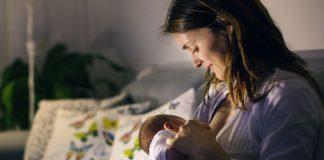 Woman breastfeeding