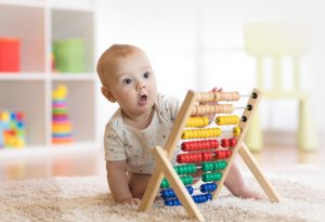Baby develops hand-eye coordination