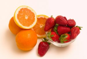 Oranges with Strawberries