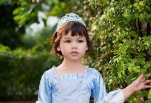 A girl in a princess costume