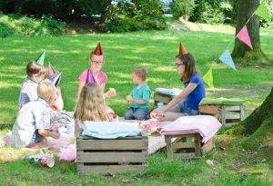 Children sitting in circle