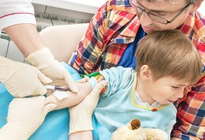 Blood test in child