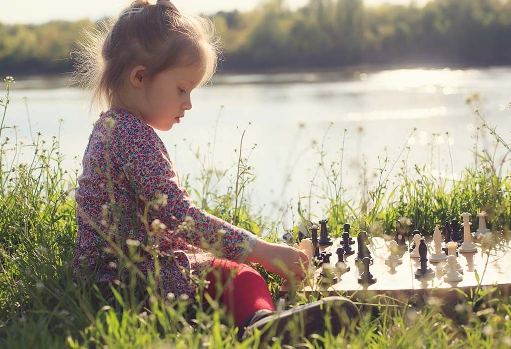 Indigo Child Playing Chess