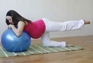 Pregnant women doing Exercise