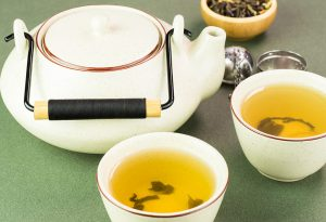 Two cups green tea a day