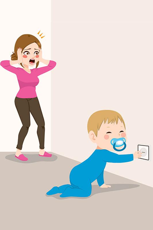 घुटनों के बल चलते वक्त आपके शिशु की सुरक्षा के लिए अन्य सुझाव
