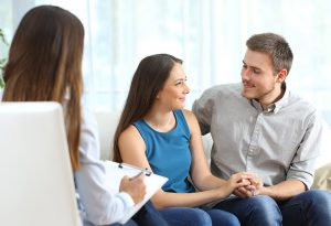 Couple talking to Family Physician