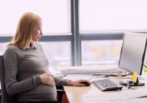 Pregnant women at office