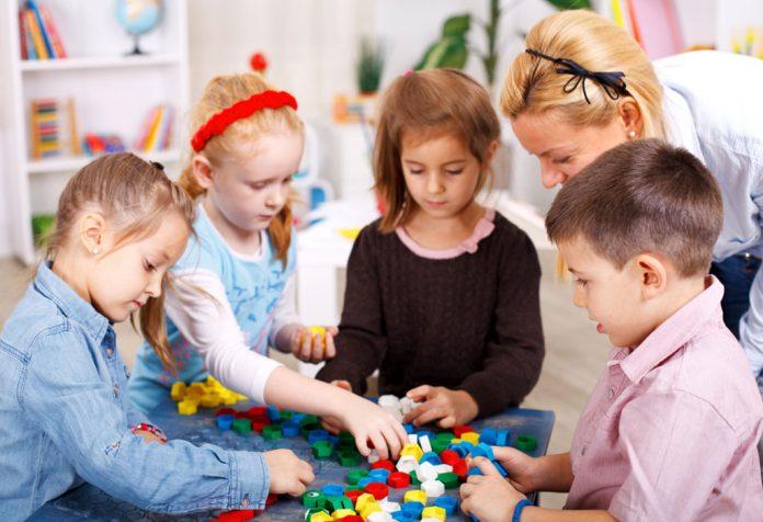 Children playing games