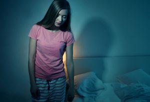 Girl sleepwalking