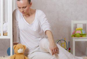 Young mother experiencing postnatal depression