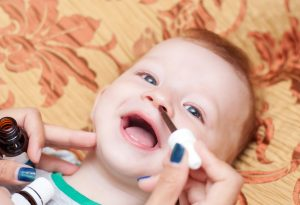 Nasal drops for cold in baby