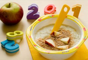 Baby meal full of fibre-rich foods