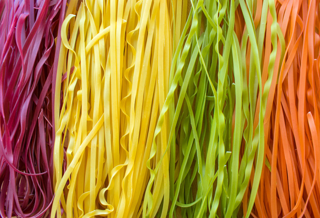 Coloured Spaghetti Noodles