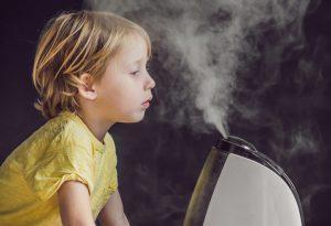 Humidifier in kids bedroom