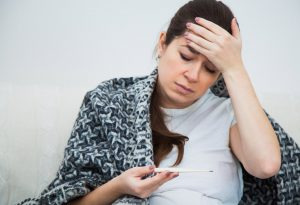 Pregnant woman with the CMV virus