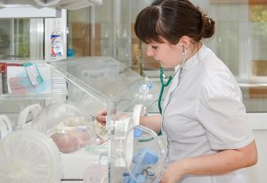 New born baby under medical observation