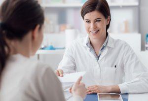Doctor prescribing medicines for yeast Infections