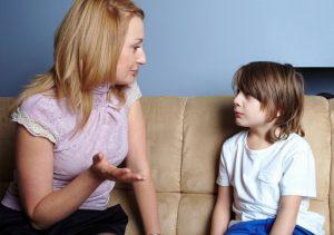 Kids listen better told patiently