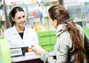 Woman buying ECP pills