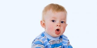 A baby coughing