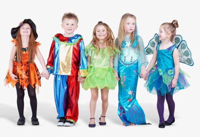 Children dressed up for a fancy dress party