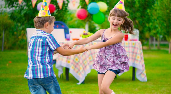 Kids dancing at a party