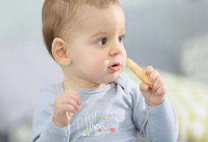 A child eating biscuit