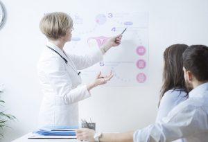 Infertila couple with doctor