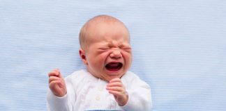 Newborn baby crying