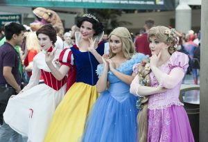 Women dressed as Disney princess
