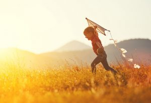 Child running with happiness