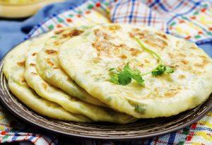 Stuffed paratha on a plate