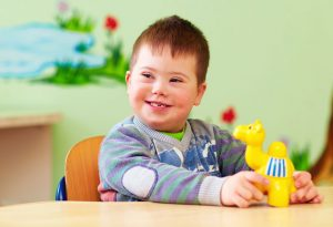 CHILD WITH DOWN'S SYNDROME