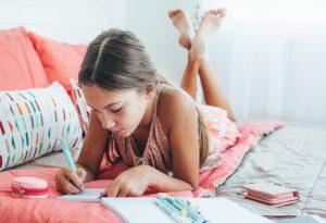 Child making a list