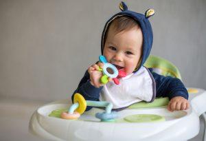 Baby in his walker