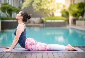 Cobra pose in Yoga