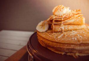 Banana Pancake with honey