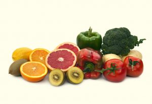 Natural sources of vitamin C (fruits and vegetables)